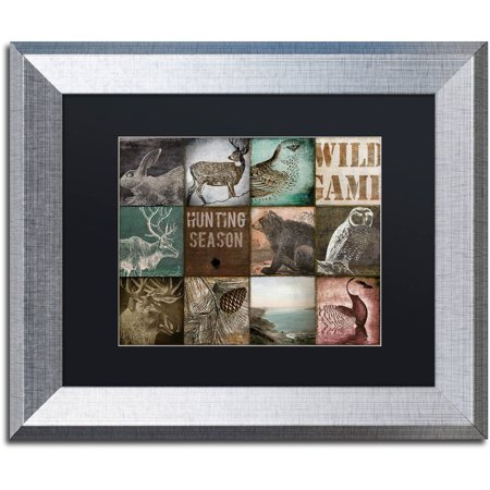 Trademark Fine Art  Cabelas  Canvas Art by Color Bakery Black Matte, Silver Frame Ready to hangFramed presentationAvailable in various sizes