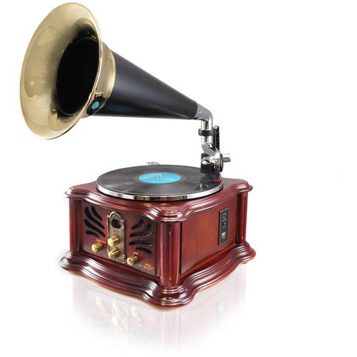 Pyle-Home Vintage Retro Classic Style Bluetooth Turntable Phonograph Speaker System with MP3 Recording Ability by