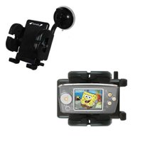 Gomadic Brand Flexible Car Auto Windshield Holder Mount designed for the Nickelodean Spongebob Squarepants Multimedia Player - Gooseneck Suction Cup S