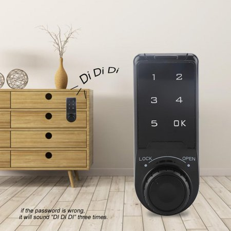 Yosoo Touch Keypad Password Key Access Lock Digital Electronic Security Cabinet Coded Locker, Cabinet Coded Lock, Touch Keypad Lock - image 4 of 8