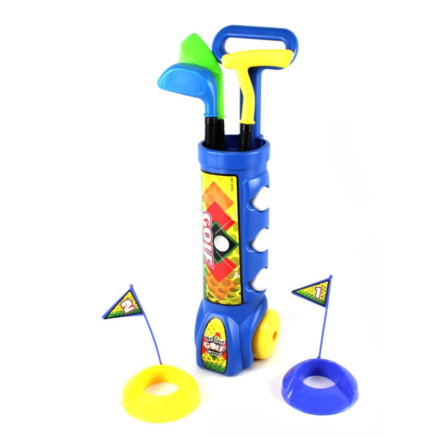 Kid's Golfer Toy Golf Set w  3 Golf Balls, 3 Types of Clubs, 2 Practice Holes, Perfect... by