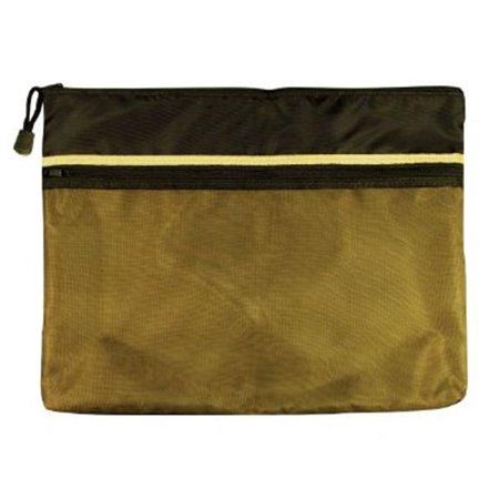 10 in. x 13 in. Dual Zippered Pocket Fabric Mesh Bag
