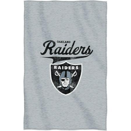 "NFL Oakland Raiders ""Script"" 54"" x 84"" Sweatshirt Throw by"