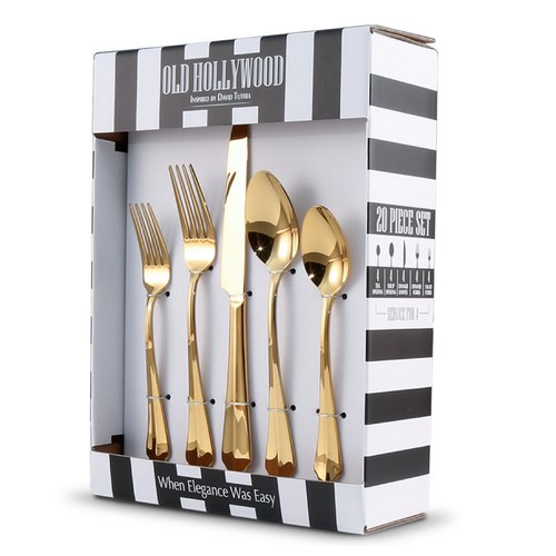 Mercer41 Larrick Old Hollywood 20 Piece Flatware Set