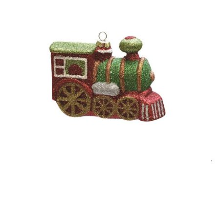 Northlight Seasonal Merry and Bright Glitter Drenched Shatterproof Christmas Train Ornament