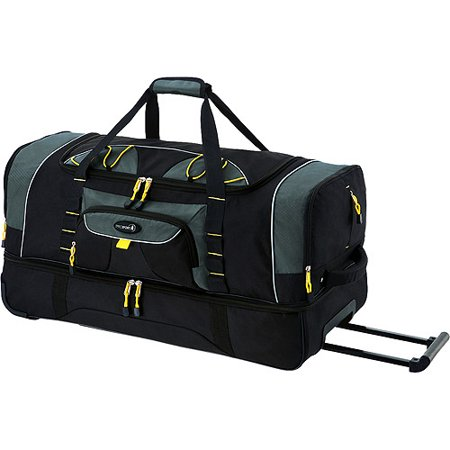 Travelers Club - Jumbo 36 2-Section Rolling Duffel w  Blade Wheels ... a97154b404377