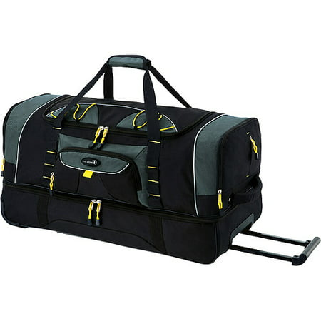 Jumbo 36 2-Section Rolling Duffel w/ Blade Wheels, Black