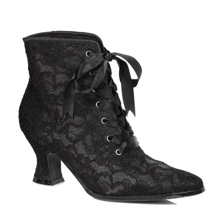 Womens Victorian Elizabeth Black Costume Boots