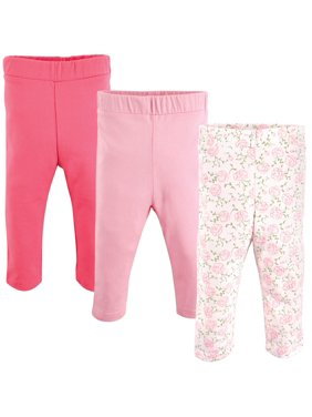 Luvable Friends Baby and Toddler Girl Pants, 3 pack