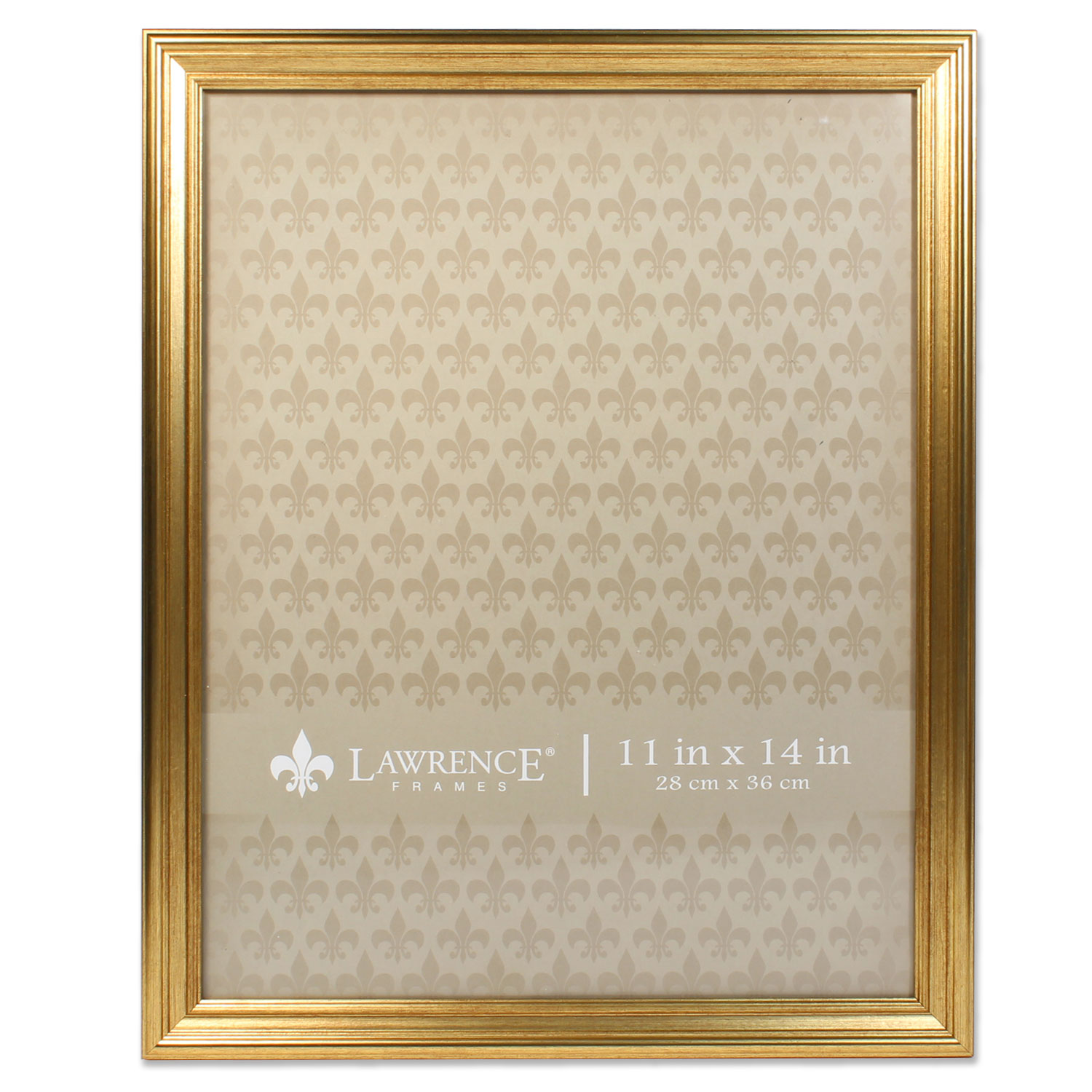 11x14 Sutter Burnished Gold Picture Frame by Lawrence Frames