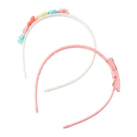 OshKosh B'gosh 2 Pack Baby Girls' Rosette and Bows Headband, One Size