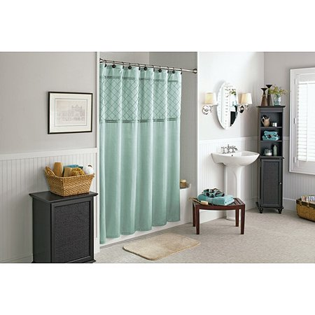 Better homes and gardens lattice pintuck shower curtain Better homes and gardens shower curtains