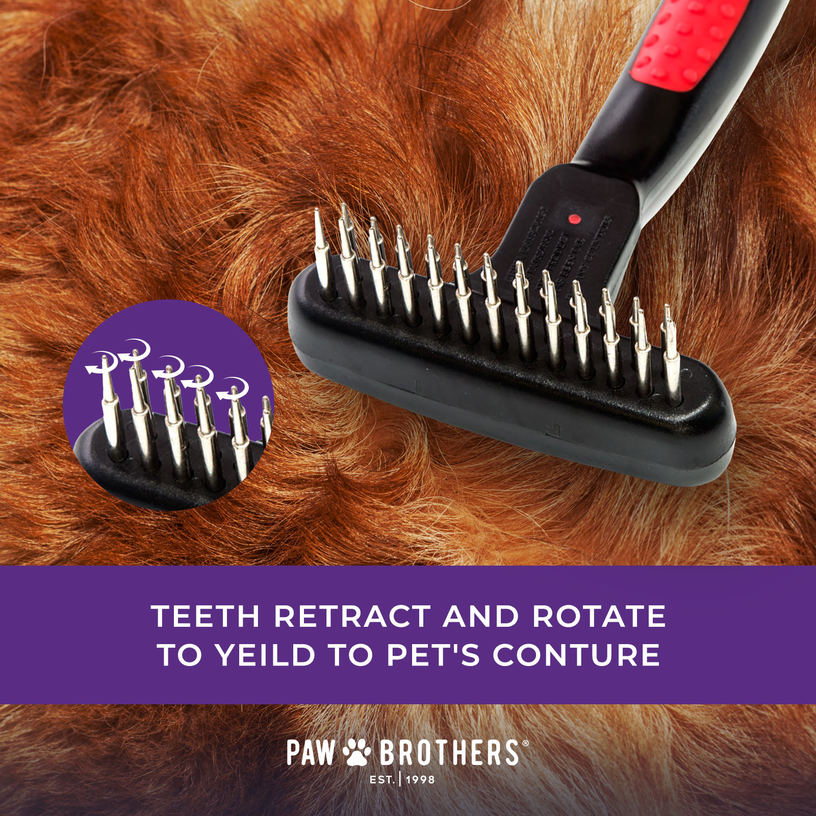 Paw Brothers Magic Spring Comb