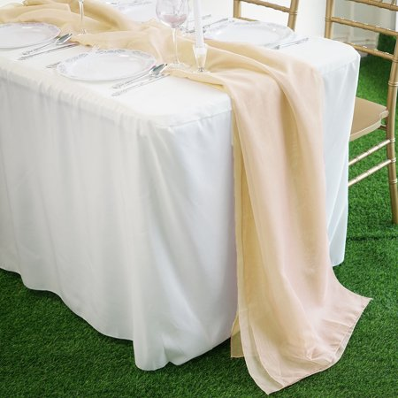 BalsaCircle 22x80-Inch Extra Wide Premium Chiffon Table Top Runner - Wedding Party Reception Linens Dinner Event Home Decorations