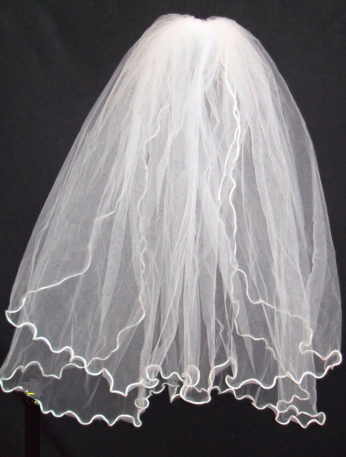 Unotux Girls 1st Communion Dress Wedding White Veil 2 Layers