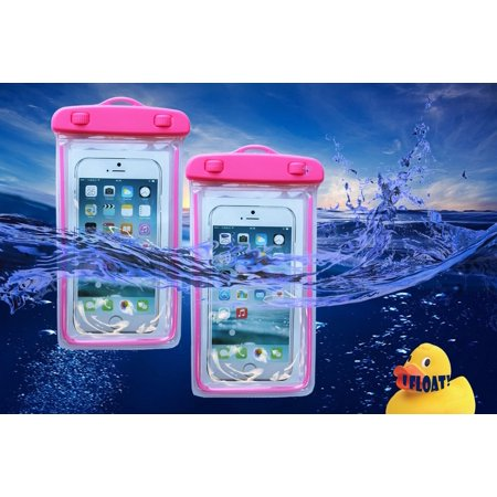 [2-PACK] ZForce Waterproof Cell Phone Case For Smartphones iPhone, Samsung, HTC, Sony, Nokia, Blackberry, and iPod (Pink) ()