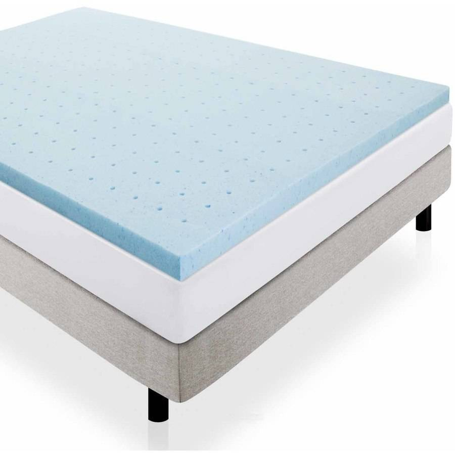 "Lucid 2"" Gel Infused Ventilated Memory Foam Mattress Topper by CVB Inc."
