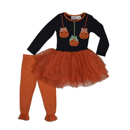Halloween Pumpkins Tulle Tunic and Legging, 2-Piece Outfit Set (Little - Halloween Outfits Ideas Homemade