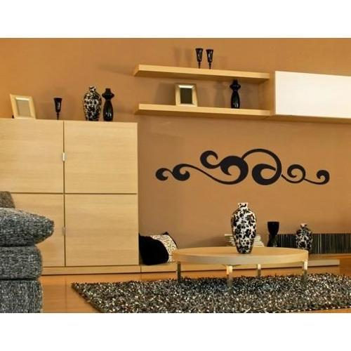 Style and Apply Waved Ornament Wall Decal