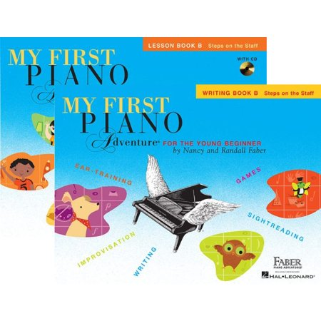 My First Piano Adventures Level B - Two Book Set - Lesson Book with CD and Writing Book