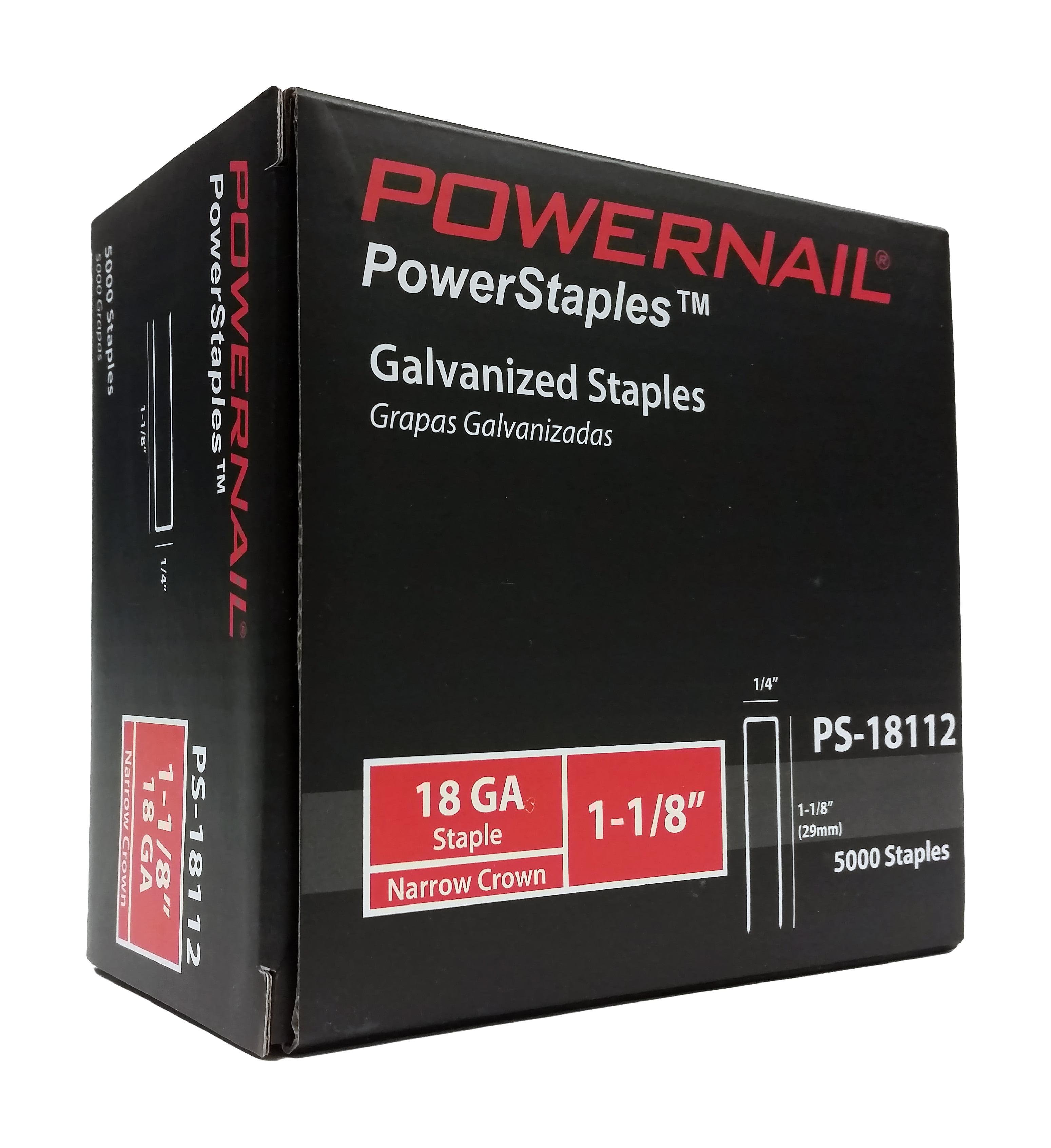 POWERNAIL 18-Gauge 1-1/8-Inch Narrow Crown Flooring Staples | PS18112