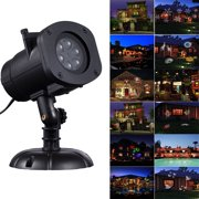Christmas Projector Lights, LED Projection Light Landscape Spotlight for Outdoor Holiday Gobos Decoration, 12 Patterns 110V