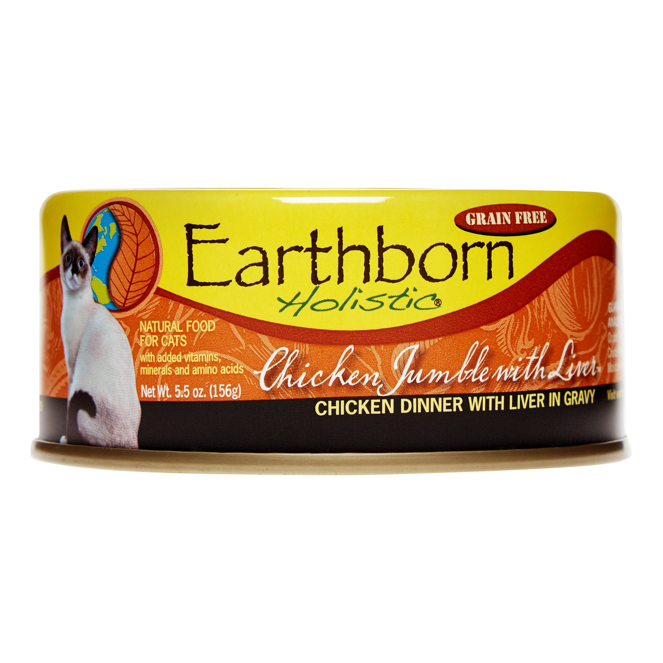 Earthborn Holistic Grain-Free Chicken Jumble with Liver Wet Cat Food, 5.5 oz, 24 Count