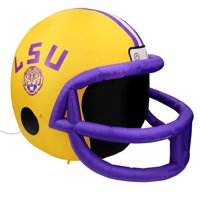 NCAA LSU Tigers Team Inflatable Lawn Helmet, Yellow, One Size