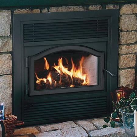 Superior BUCBK Superior Fireplaces Contemporary Arch Shape Door - Black ()