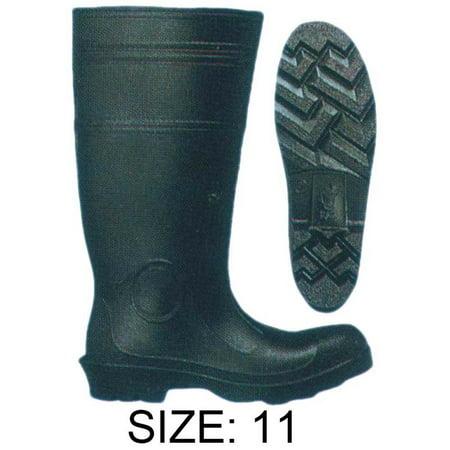 Hawk Black Pvc Knee Steel Toed Boots, 16