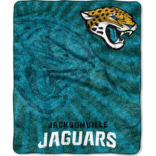 "NFL Strobe 50"" x 60"" Sherpa Throw, Jaguars"