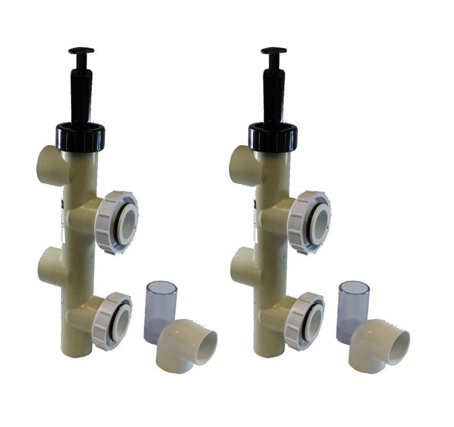 """2) PENTAIR 263064 2"""" PVC Slide Pump Backwash Valves, Side..."""