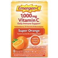 Emergen-C Original Formula (10 Ct, Super Orange) Vitamin C Powder