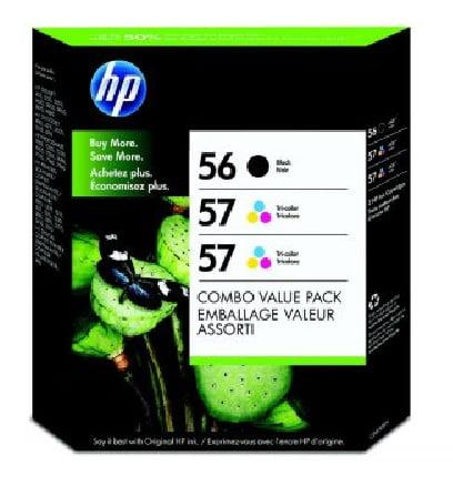 HP 56/57 Ink Cartridge Triple Pack