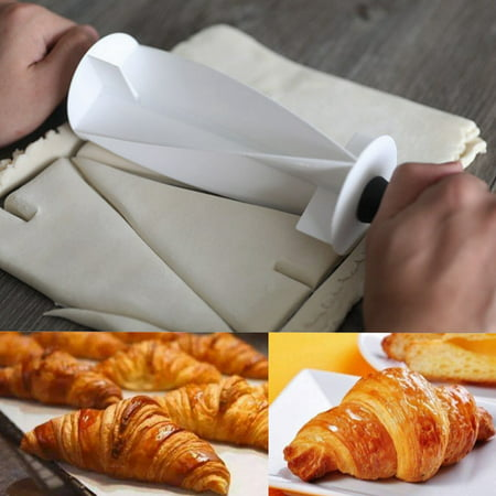 Jeobest Rolling Dough Cutter - Croissant Roller Cutter - Croissant Cutter Roller - Croissant Bread Cutter Plastic Handle Rolling Cutter For Making Croissant Bread Dough Kitchen Baking Tool (Making Memories Cutter)