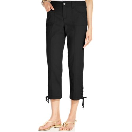 Style & Co Women's Mid Rise Lace-Up Capris Size (Who Sells Style And Co)