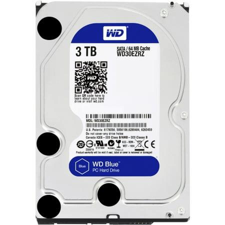 WD Blue 6TB Desktop Hard Disk Drive - 5400 RPM SATA 6 Gb/s 64MB Cache 3 5  Inch - WD60EZRZ