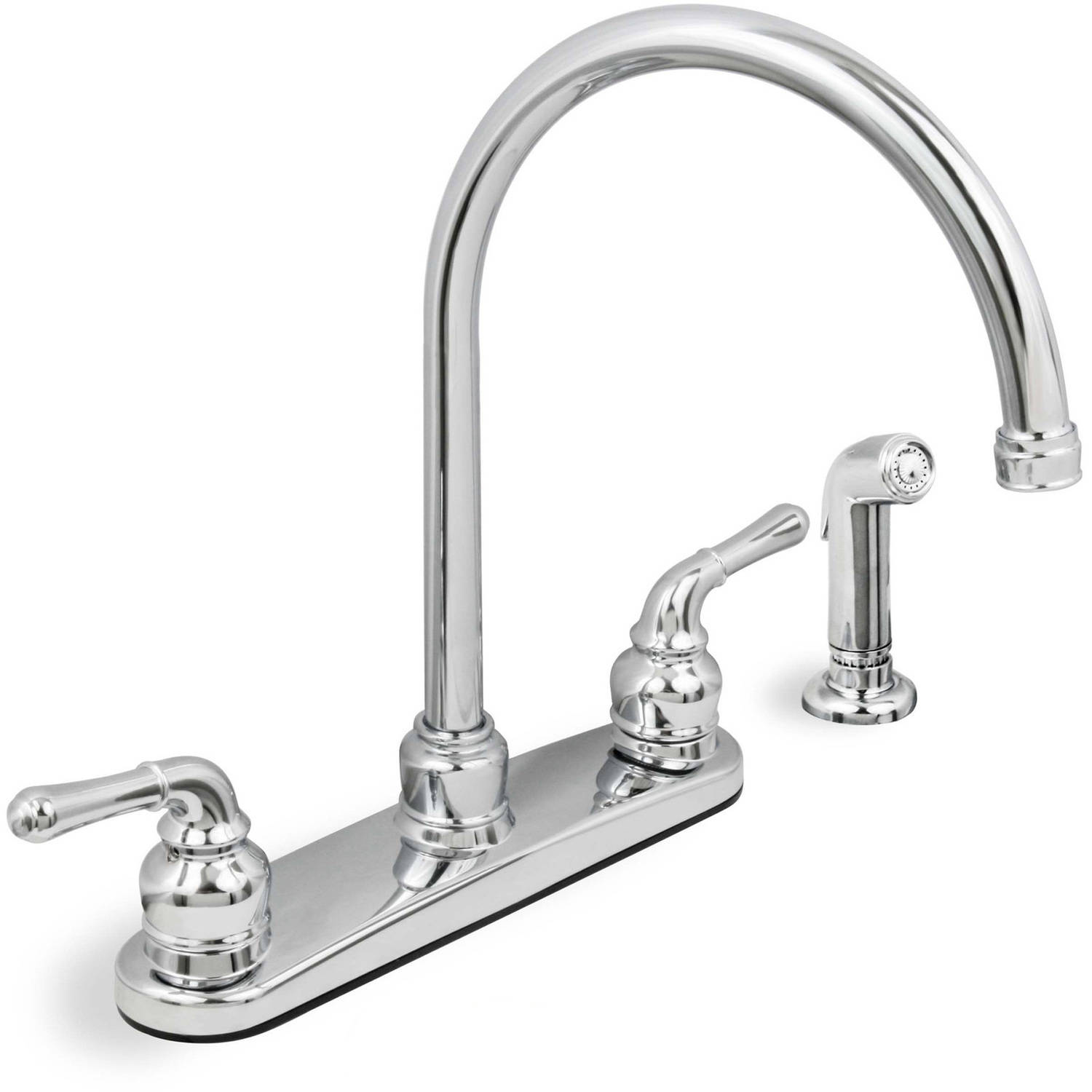 sc 1 st  Walmart & Lead Free Two-Handle Kitchen Faucet with Spray Chrome - Walmart.com