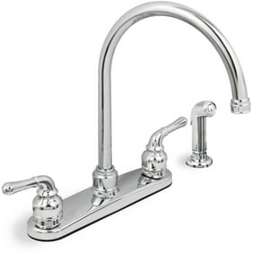 Central Brass Double Handle Kitchen Faucet With Overhead Swivel 12