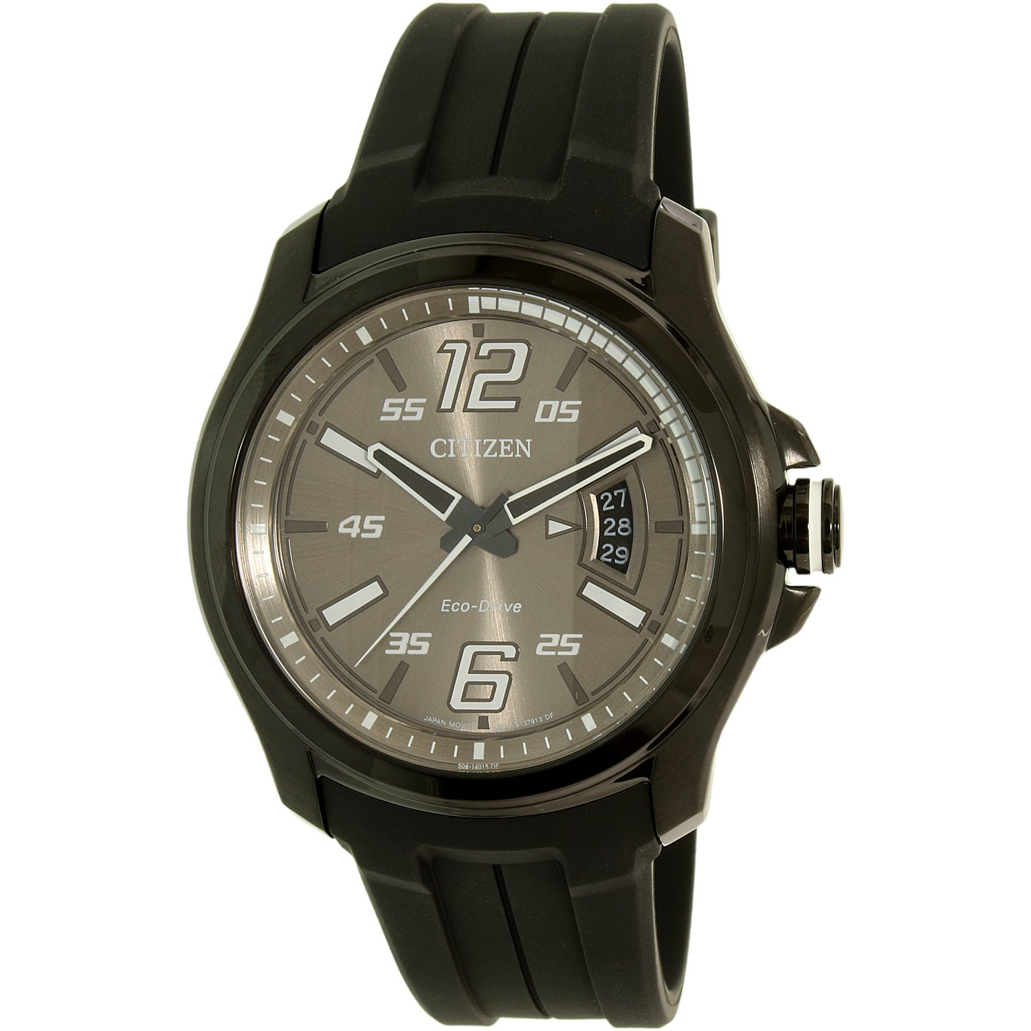 Citizen Men's Eco-Drive AW1354-07H Black Silicone Eco-Drive Dress Watch