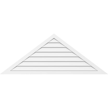 46 W x 15 3 8 H Triangle Surface Mount PVC Gable Vent 8 12 Pitch Non
