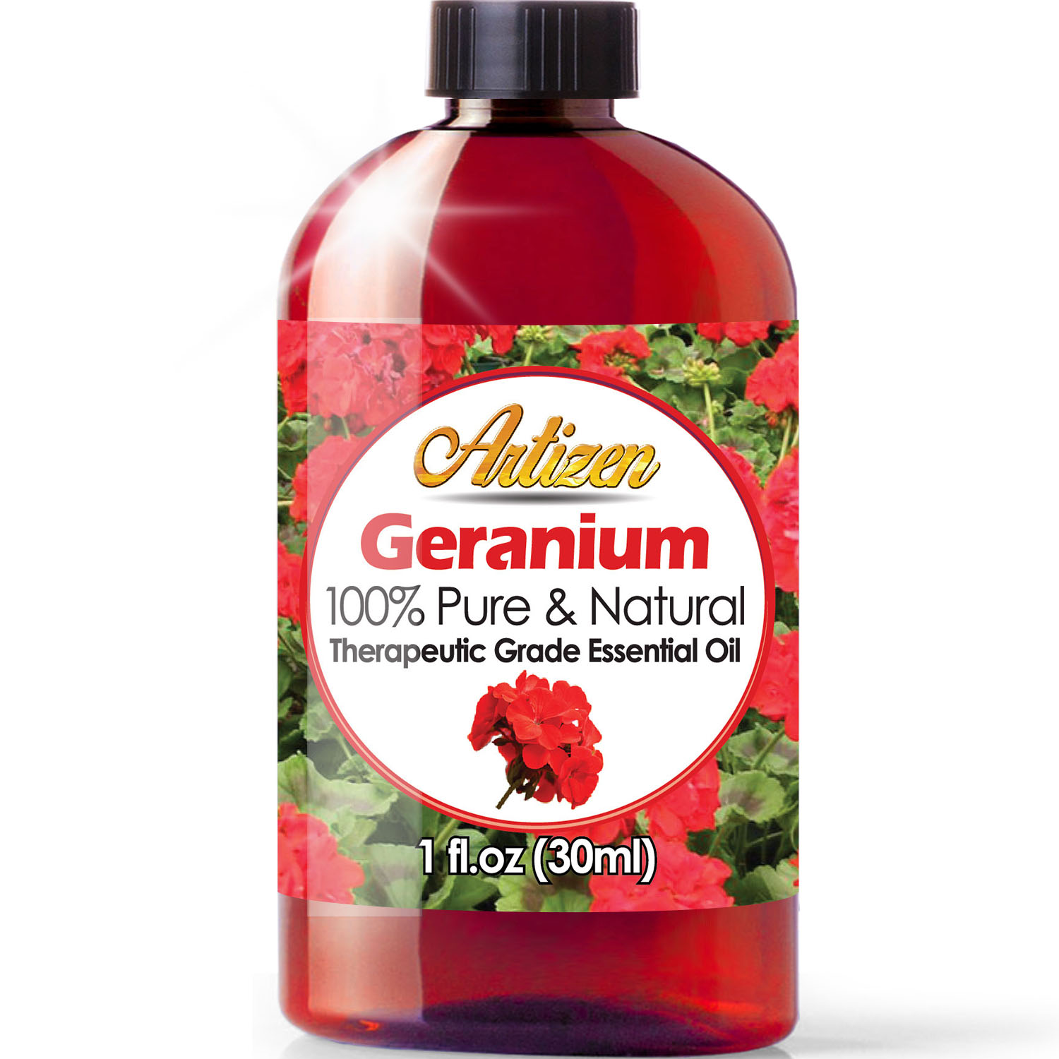 Artizen Geranium Essential Oil 100 Pure Natural Undiluted Therapeutic Grade Huge 1oz Bottle Perfect For Aromatherapy Relaxation Skin Therapy More Walmart Com Walmart Com