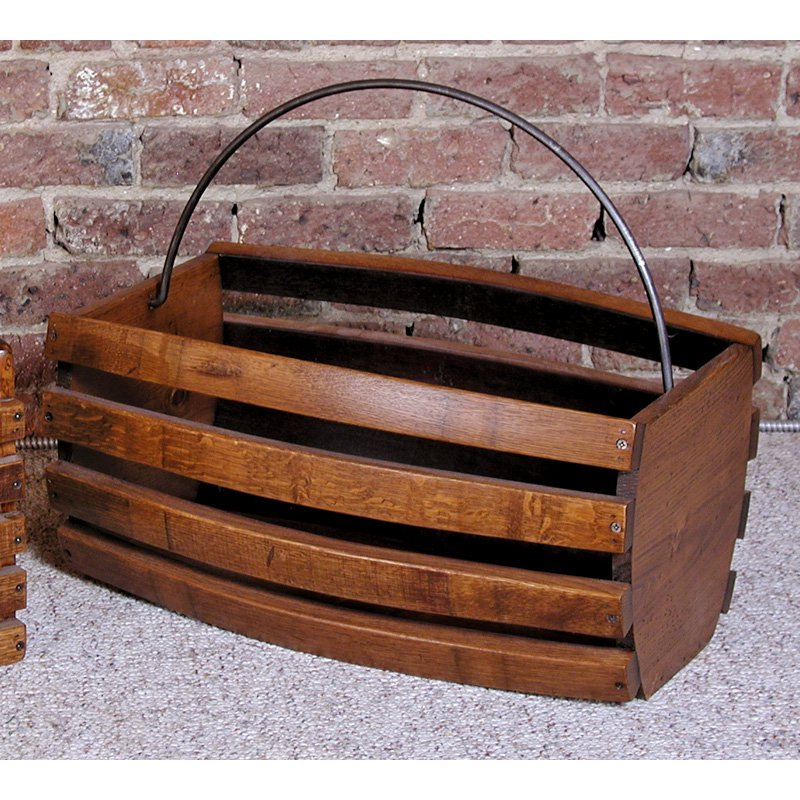 2 Day Designs Reclaimed Large Wine Basket