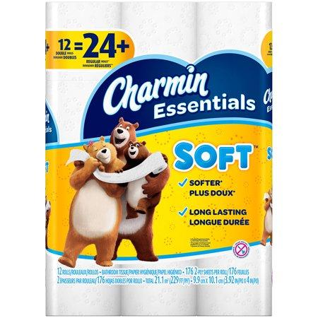Charmin Essentials Toilet Paper Soft 12 Double Rolls