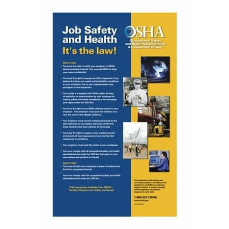 OSHA Job Safety and Health Version 2012 Poster Print (12 x 18)