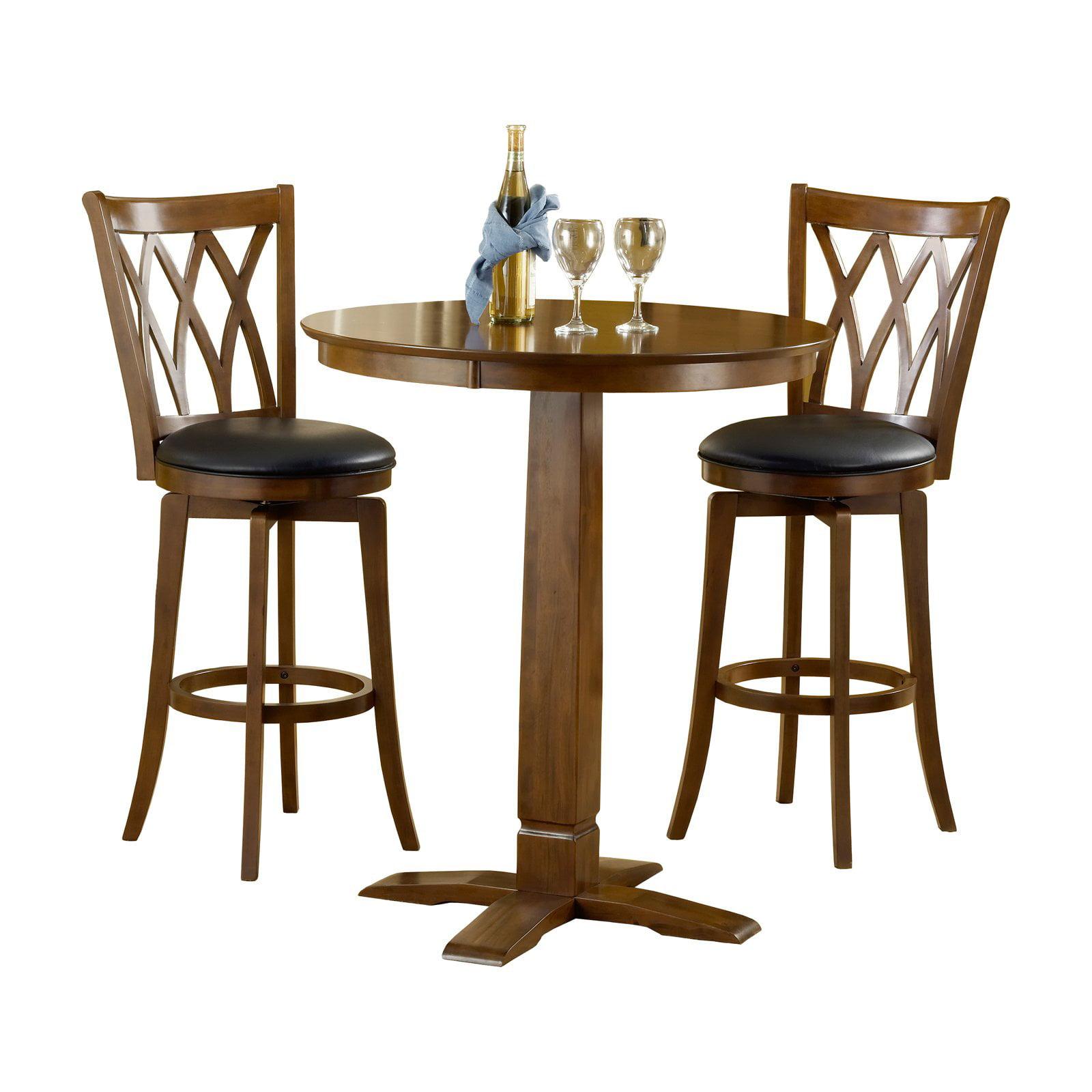 Hillsdale Furniture Mansfield 3 Piece Pub Table Set