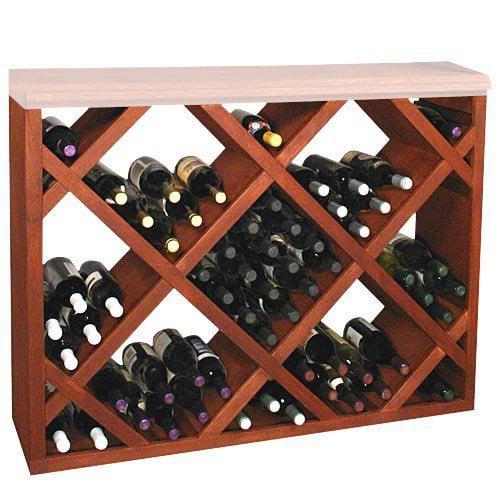 Designer Series 132-Bottle Half Height Diamond Bin Wine Rack