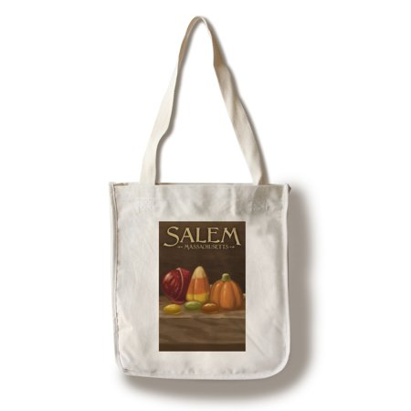 Salem, Massachusetts - Candy - Halloween Oil Painting - Lantern Press Artwork (100% Cotton Tote Bag - Reusable)