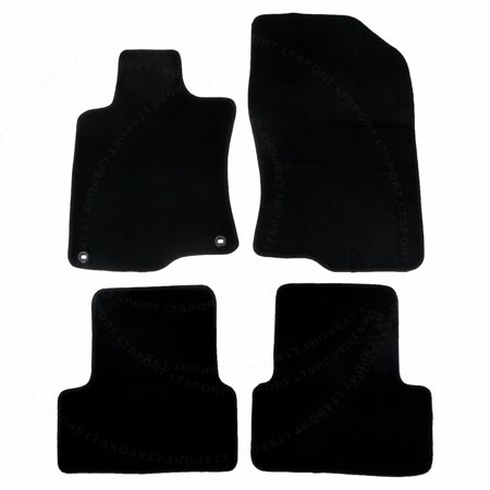 Fit 09-12 Acura TSX Sedan Custom Fit Premium Nylon Black Floor Mats Carpet For 2009 2010 2011 2012 09 10 11 12 Acura TSX