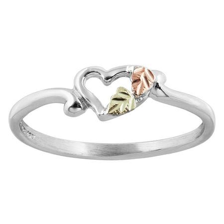 Sterling Silver Black Hills Gold heart Ring Black Hills Gold Silver Toe Ring